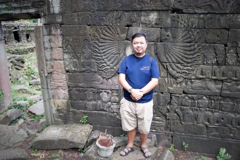 Mike Aquino at Banteay Chhmar, Cambodia