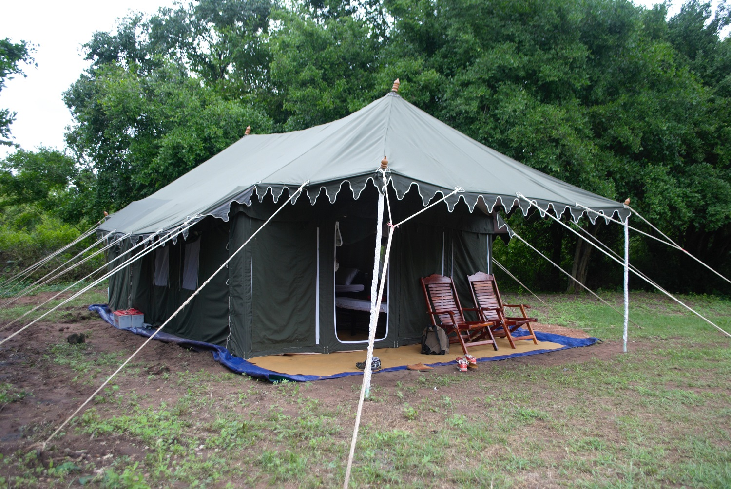 Luxury tent, Banteay Chhmar, Cambodia