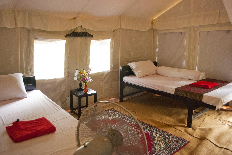 Tent interior, Banteay Chhmar