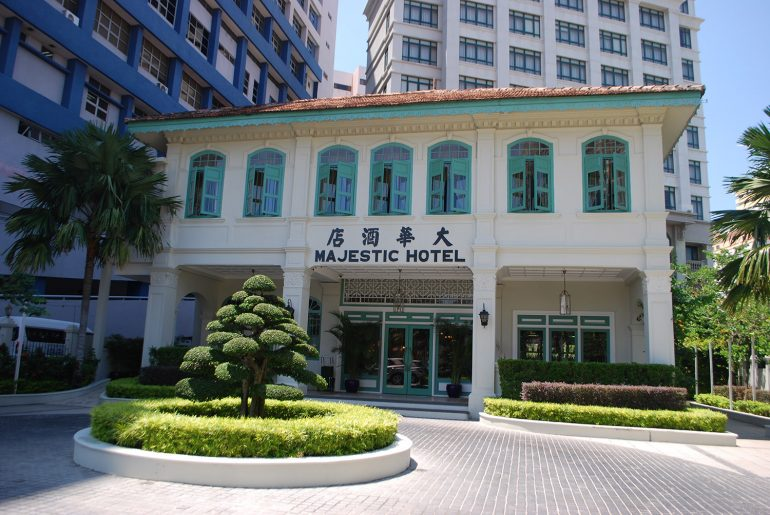 The original Leong mansion, now the Majestic Malacca Hotel.