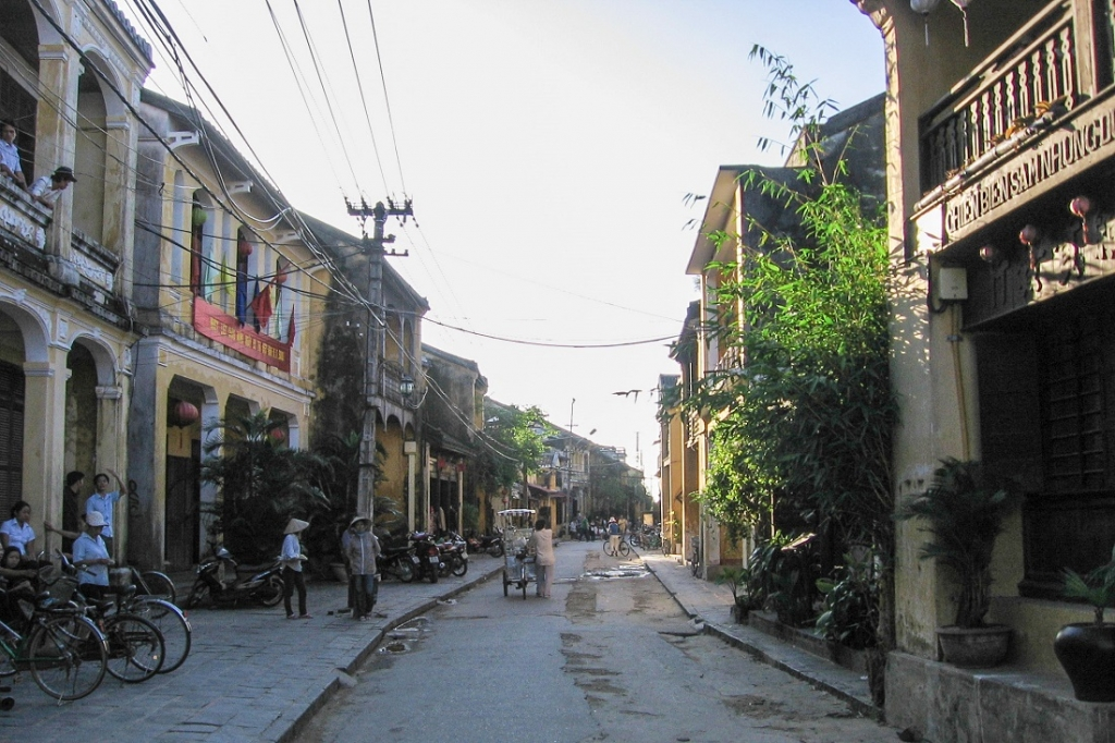 Ancient Town Street in Hoi An, Vietnam