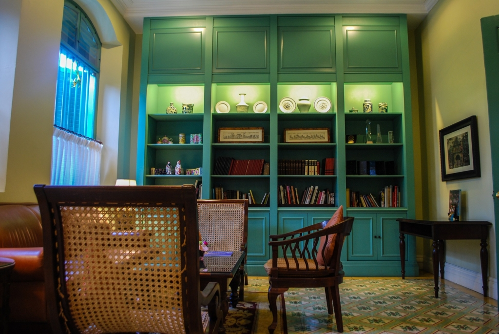 Majestic Hotel library, Melaka, Malaysia