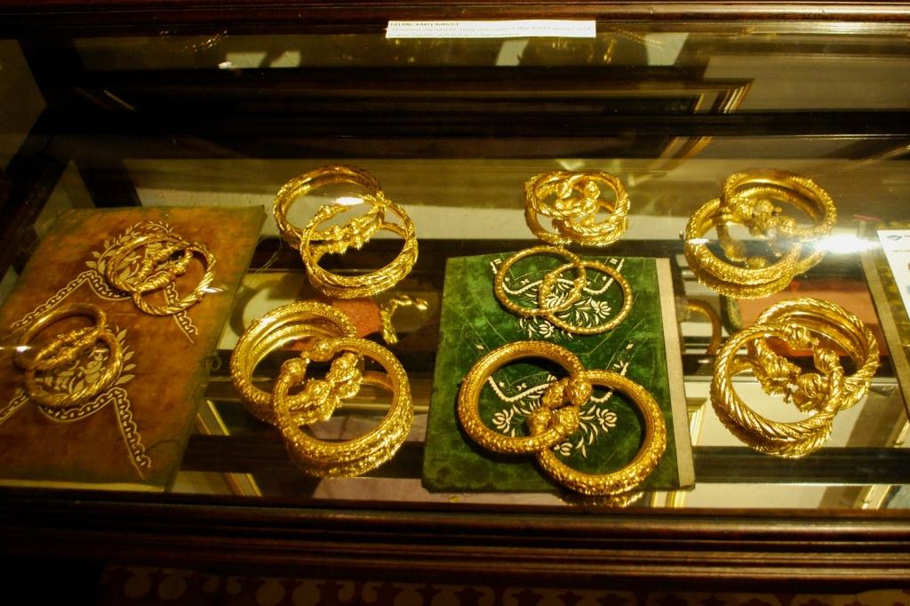 Peranakan jewelry in Penang museum