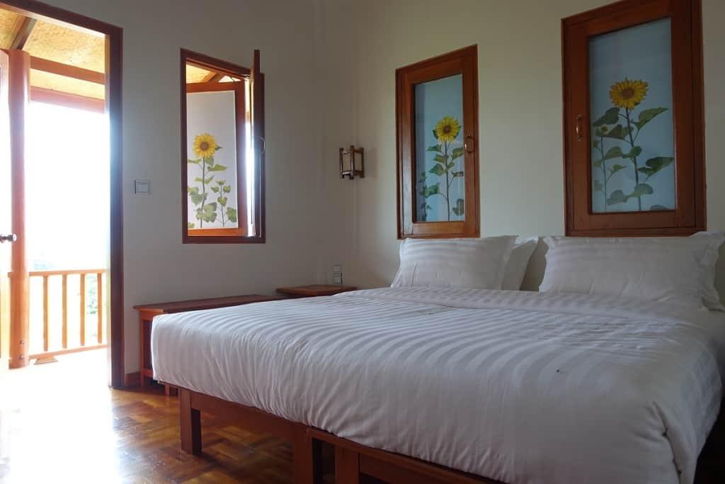 My cozy bedroom at the Thahara Pindaya