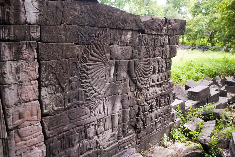 Avalokitesvara relief wall, Banteay Chhmar, Cambodia