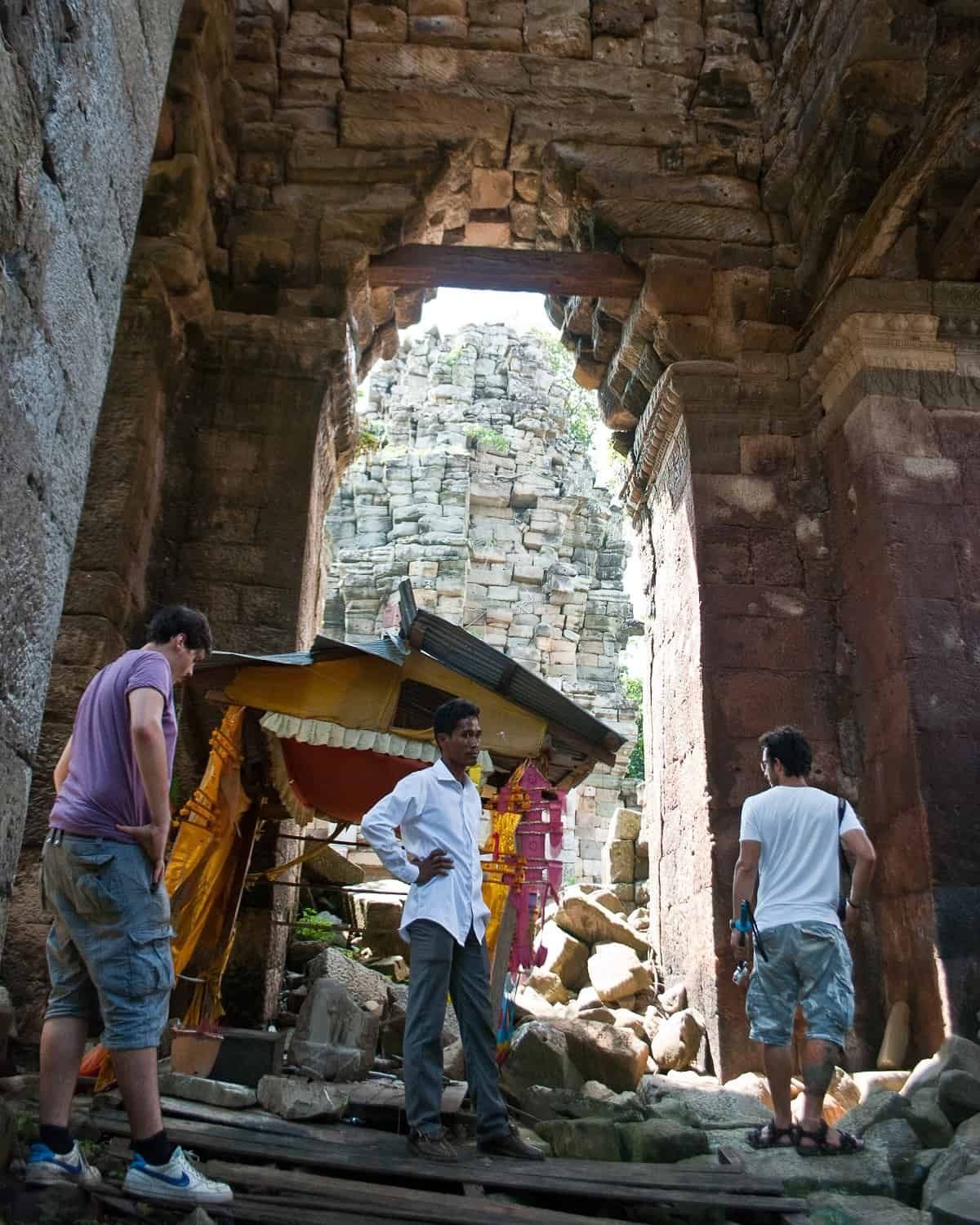 Remains of tower, Banteay Chhmar, Cambodia