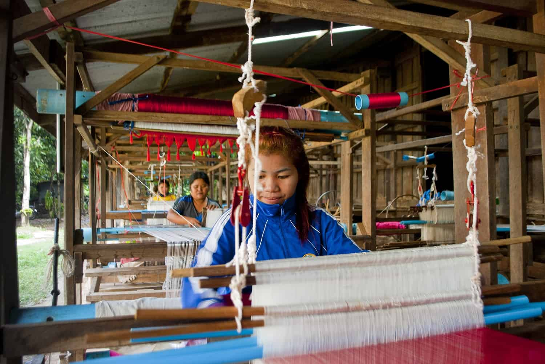 Silk factory near Banteay Chhmar, Cambodia