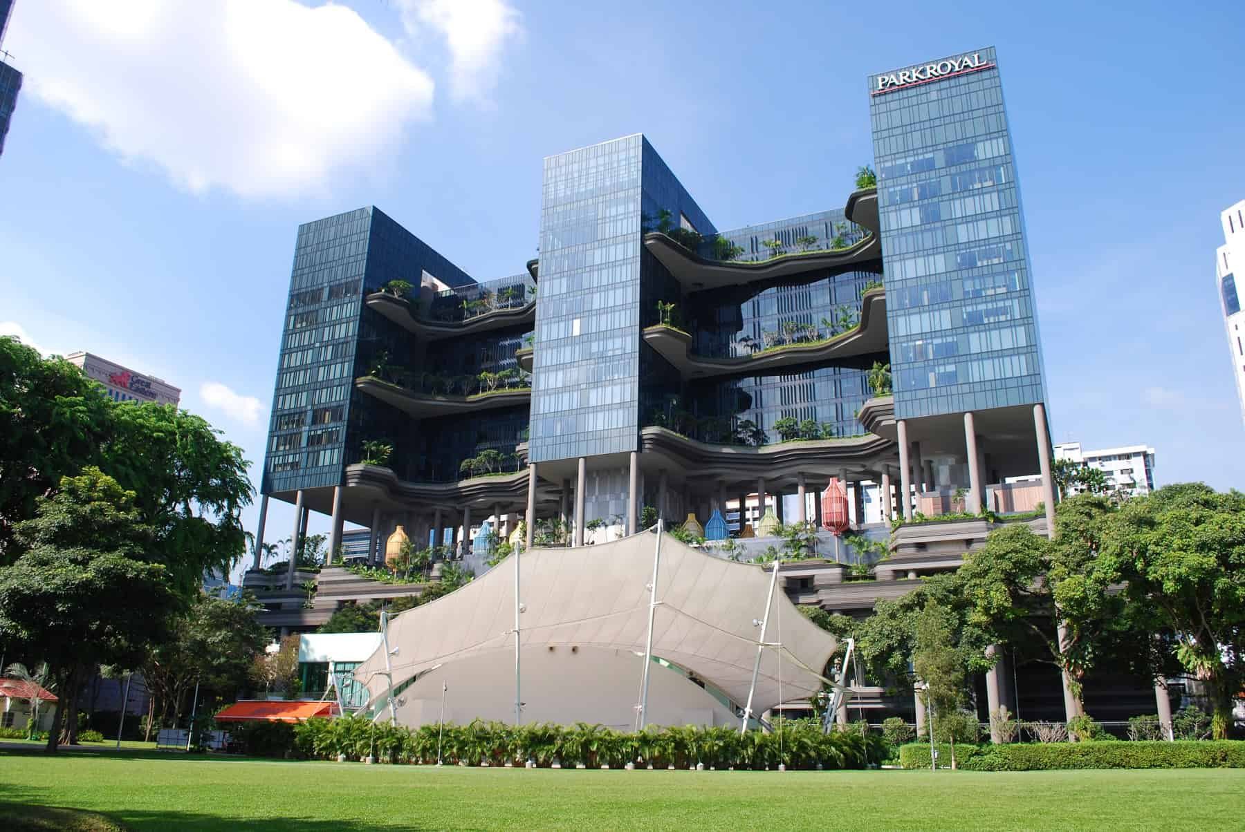 Parkroyal on Pickering from Hong Lim Park