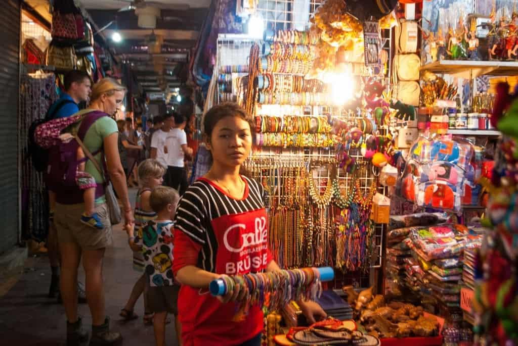 Seller at Psah Chas, Siem Reap, Cambodia