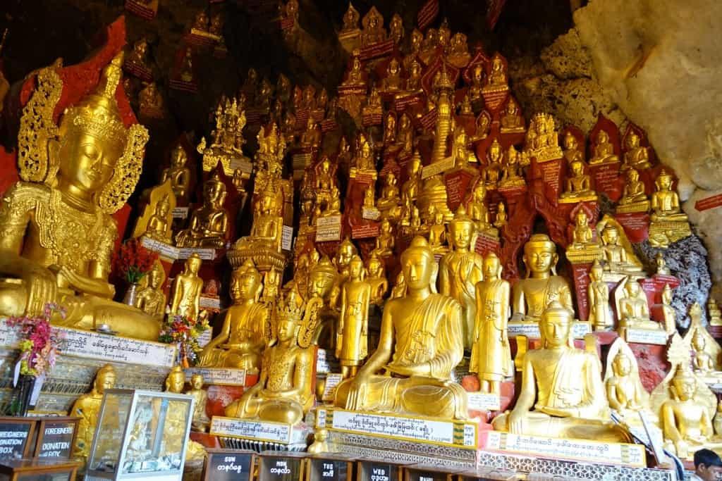 Buddhas in Pindaya Cave, Myanmar