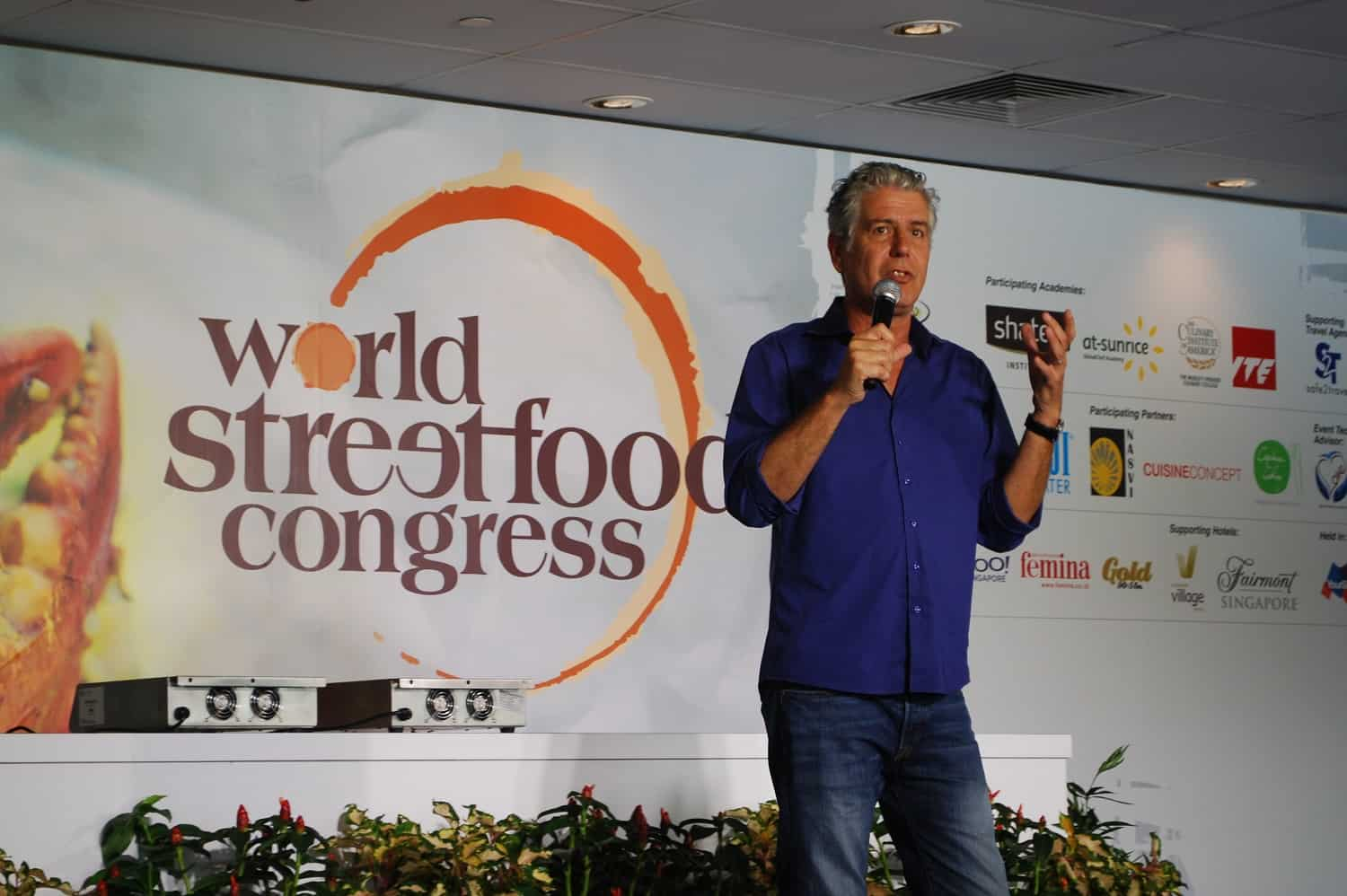 Anthony Bourdain at the World Street Food Congress in 2013