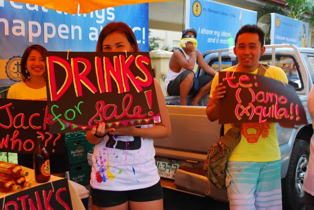 Drinks stall at Sinulog, Cebu, Philippines