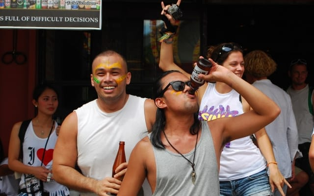 Partying at Sinulog Festival, Philippines