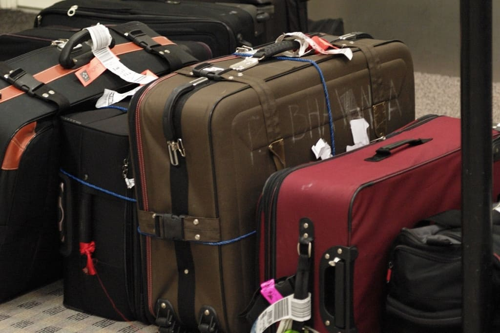 Luggage at airport.