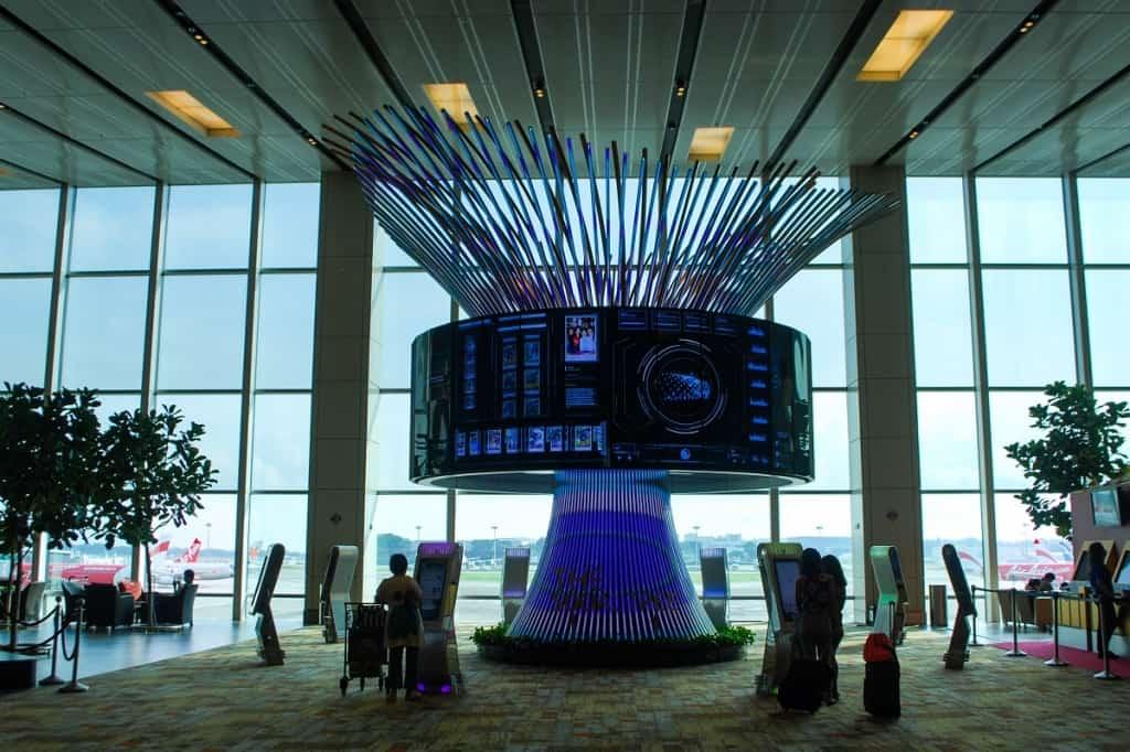 Digital display at Changi Airport, Singapore