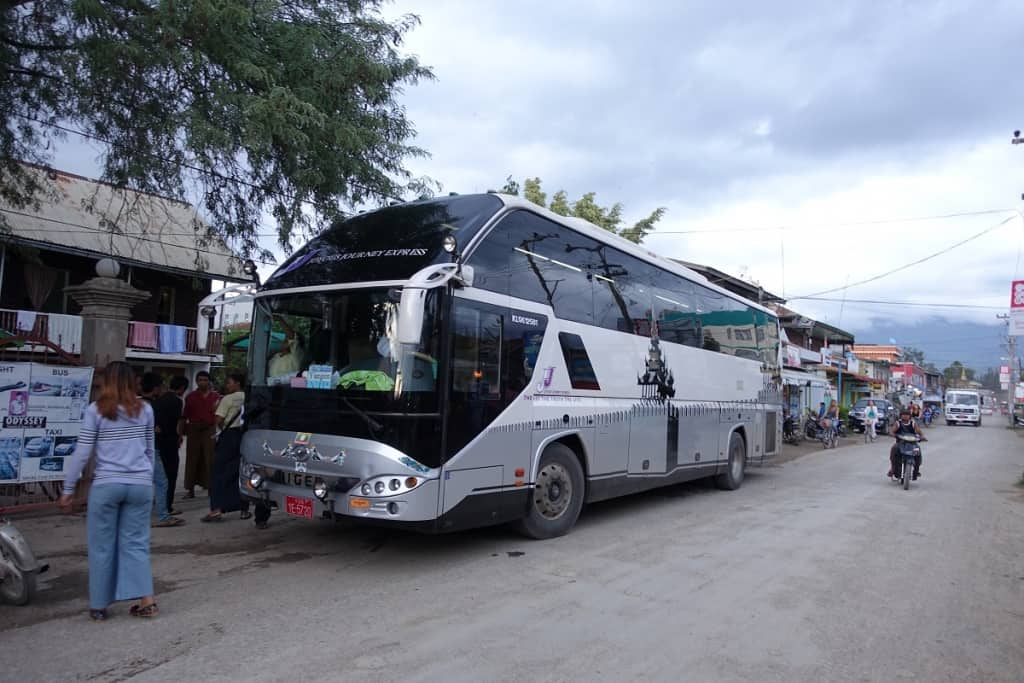 Bus in Nyaungshwe, Myanmar