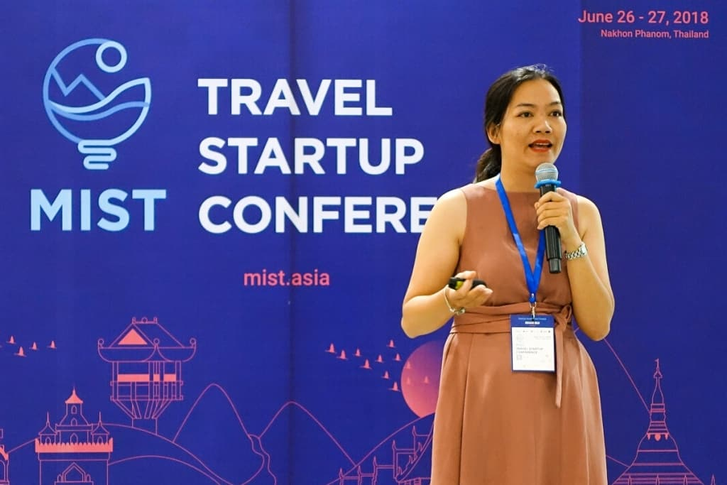 Ecohost CEO Bui Thi Nhan at the Mekong Tourism Forum in Thailand