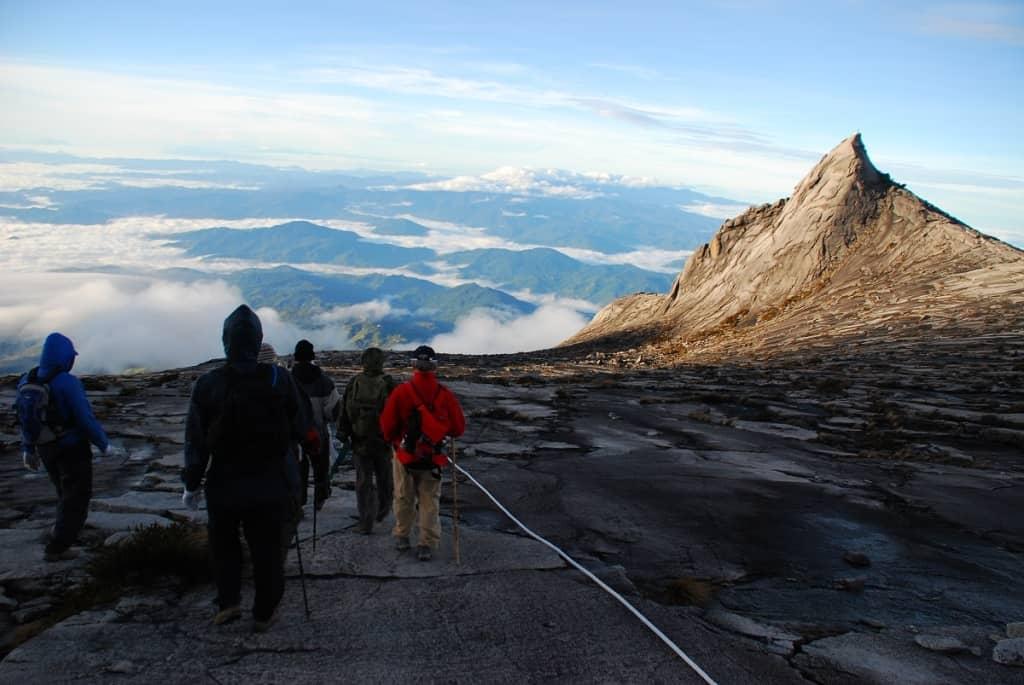 Climbers ascending Mount Kinabalu, Malaysia. Image courtesy of Malaysia Tourism