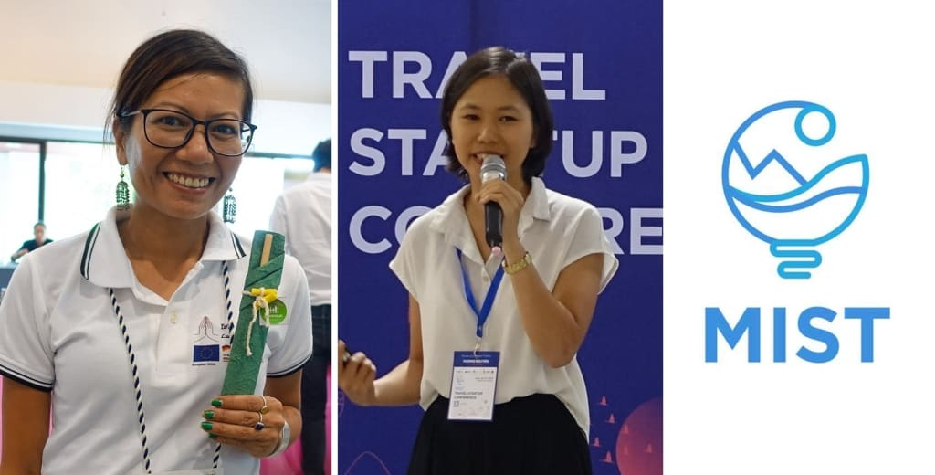 BambooLao CEO Khoungkhakoune Arounothay and GoExplore CEO Huong Nguyen