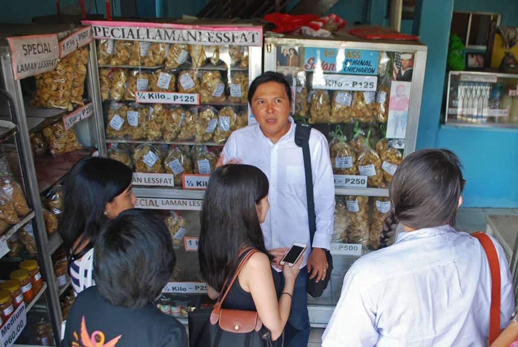 Mark Bryan Ocampo at a chicharon store in Guagua, Pampanga