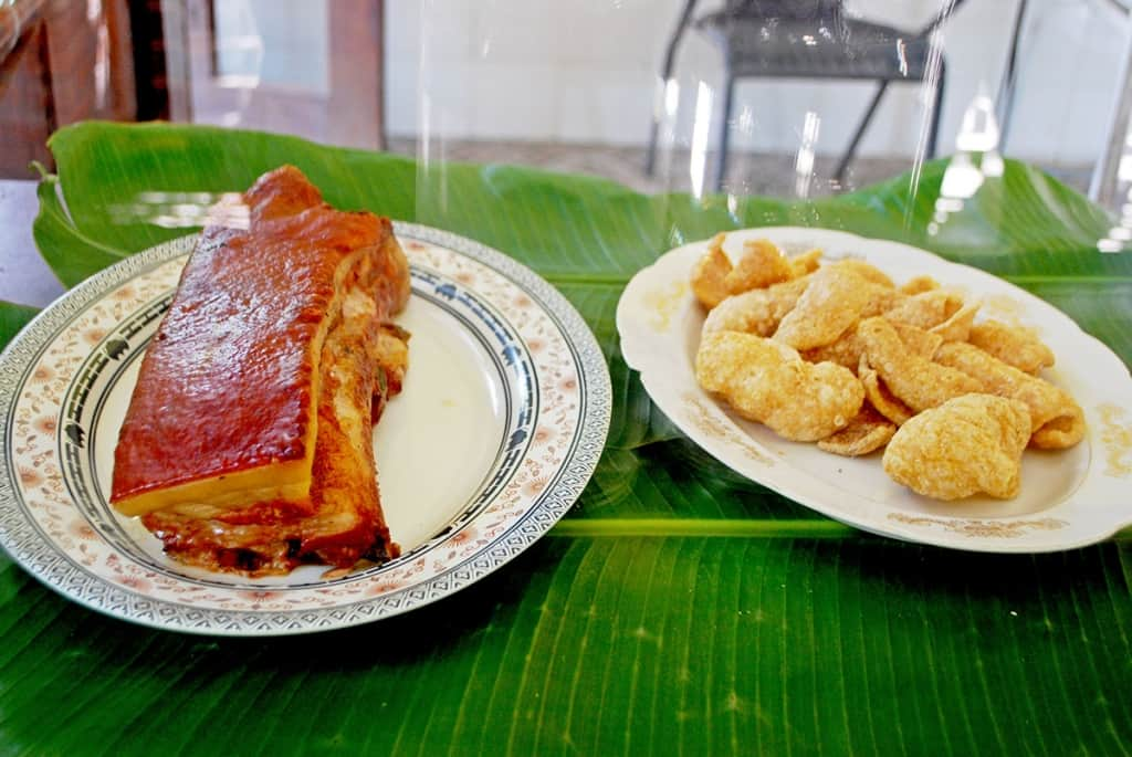 Lechon de pugon and chicharon from Guagua, Pampanga